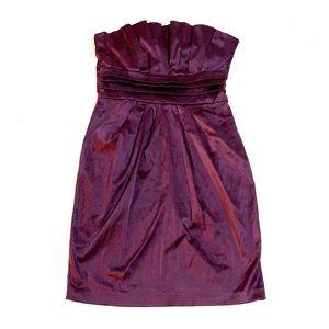 SNAP purple strapless dress w/POCKETS size 7